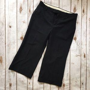 GAP Black Gray Pinstripe Cropped Wool Dress Pants
